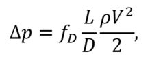 Correlations friction factor